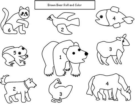 brown coloring pages preschool brown bear brown bear math dice game children roll the