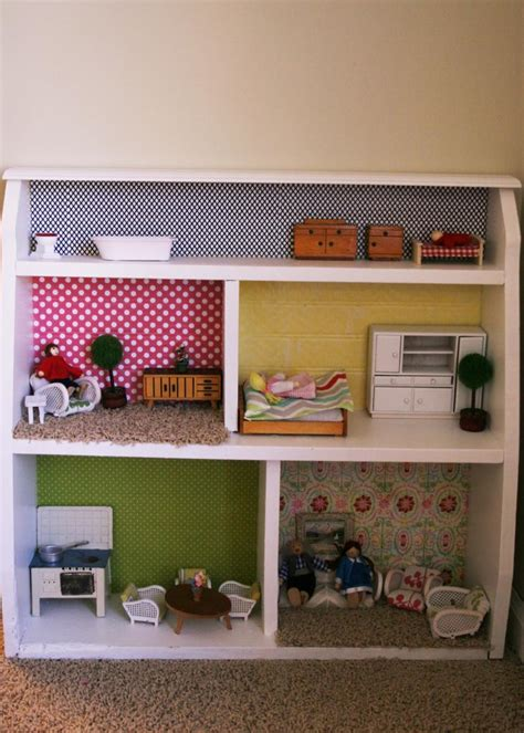 design ideas dollhouse momemade bookcase design bookcase