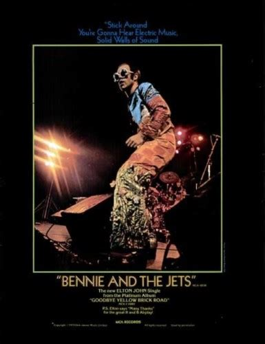bennie and the jets vintage ads elton bennie and the jets 1974