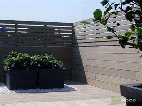 recinzione terrazzo recinzioni e frangisole in legno composito ngwood decking