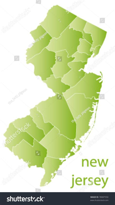 a to z the usa new jersey state flower map of new jersey state usa stock vector illustration
