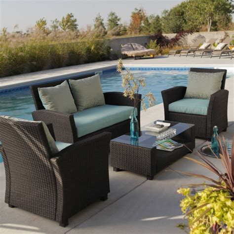 Furniture Pcs Outdoor Patio Furniture Set Wicker Garden Outdoor Patio Wicker Furniture