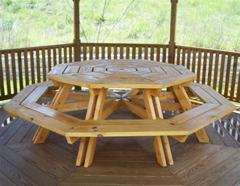 8 person picnic table plans diy eight seater octagonal picnic table plans l build easy
