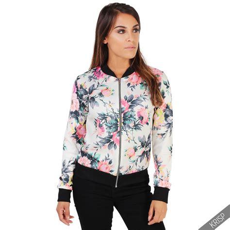 floral print zip up jacket womens fashion floral print vintage bomber jacket summer