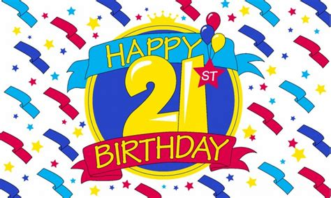 Home Design Shows Online by Happy 21st Birthday 5 X 3 Flag