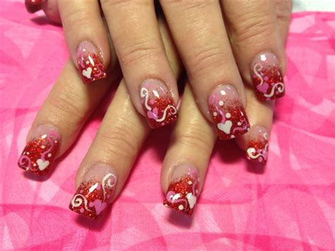 valentines nail gallery