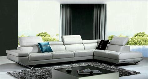 light grey sofa living room casa modern light grey italian leather sectional