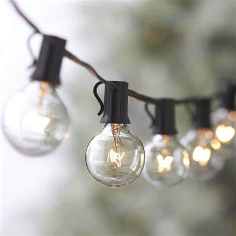 globe string lights outdoor globe string lights crate and barrel