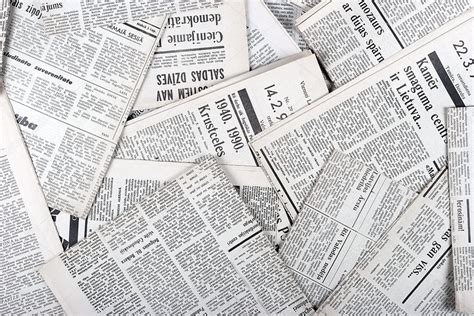 Paper From Newspaper - background of vintage newspapers stock photo