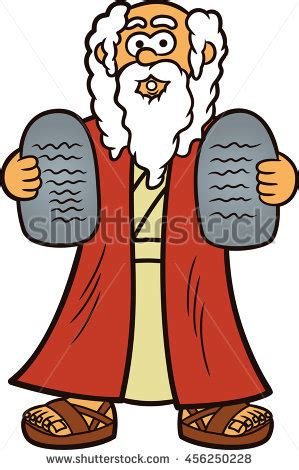 Ten Commandments Of Character moses two stones ten commandments stock vector