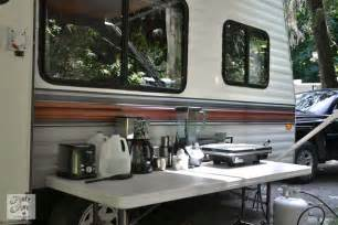 Camper Trailer Kitchen Ideas Tips For Camping In A Travel Trailerfunky Junk Interiors
