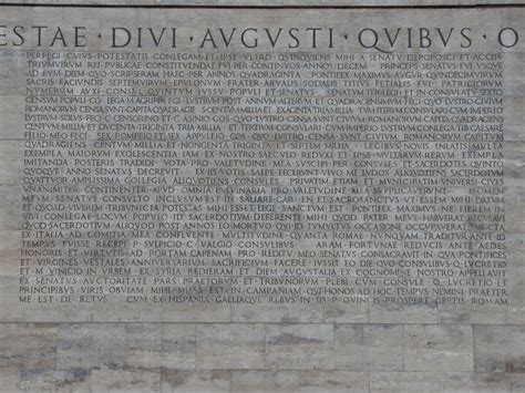 res gestae divi augusti res gestae part two a modern recreation of the res