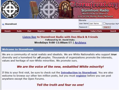 stormfrontorg  white supremacy domain  shut