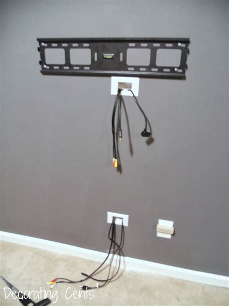 how high to mount tv on wall in bedroom decorating cents wall mounted tv and hiding the cords
