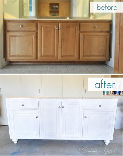 paint grade kitchen cabinets add a new base and furniture legs and paint to builder