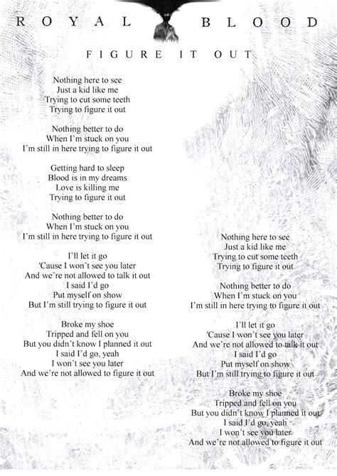 figure lyrics royal blood