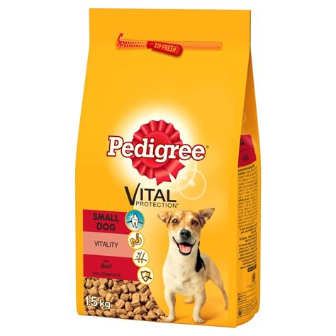 pedigree puppy chow pedigree small breed food chicken veg 1 5kg feedem