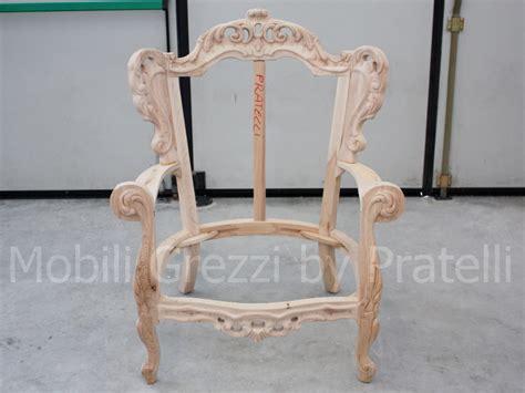 sedie barocche poltrone barocche grezze poltrona barocca grezza