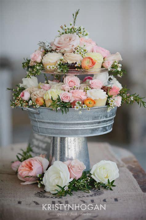 Barn Wedding Massachusetts Diy Wedding Crafts Vintage Metal Pail Cupcake Stand Diy