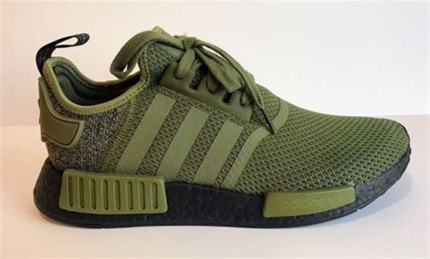 adidas originals nmd r1 aq1246 olive green black us europe colorway for sale ebay
