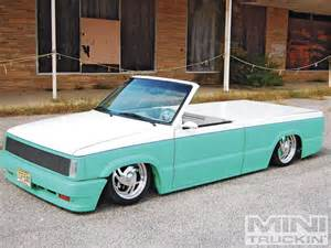 custom mini trucks ridin around 1987 mazda b2200 mini