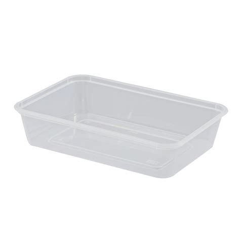 Container Thinwall Microwaveable 500ml microwavable rectangular container 500ml 50pcs x 10slv