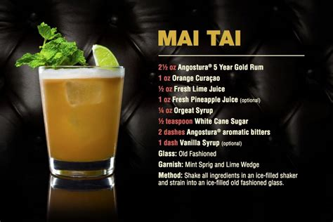 cocktail mai tai angostura