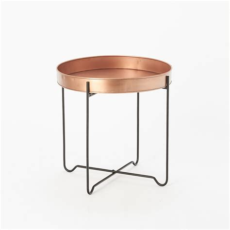 Copper Side Table Copper Tray End Table Terrain