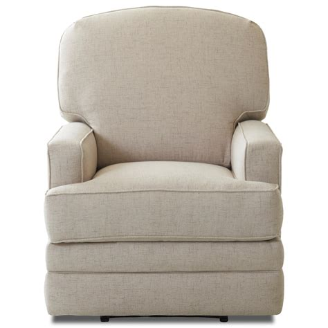 gliding recliner chair casual swivel gliding reclining chair by klaussner wolf
