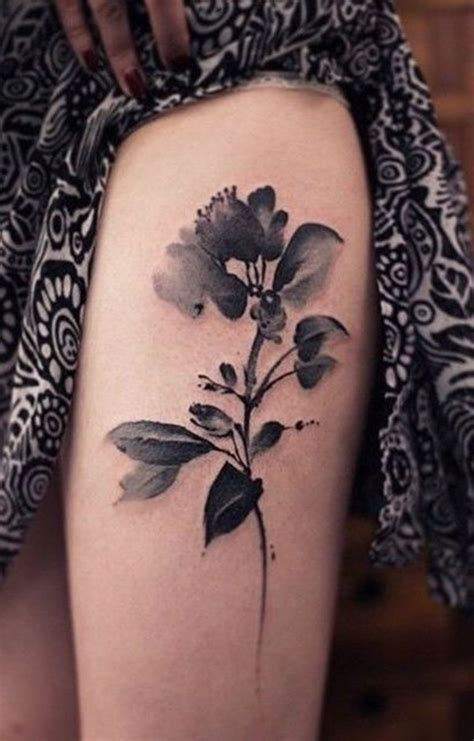 99 and bold thigh tattoo designs for girls