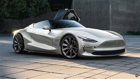tesla supercar tesla roadster will reborn as a convertible future