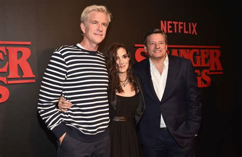 matthew modine on stranger things matthew modine photos photos premiere of netflix s