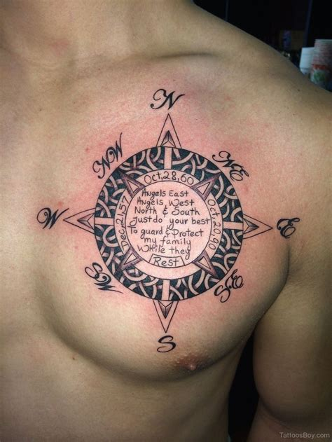 tattoos designs for chest compass tattoos designs pictures page 9