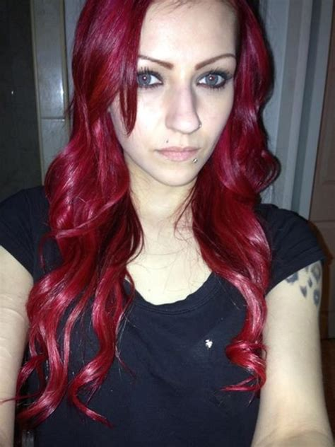 Dying Crimson Obssession Over Black Hair | splat in crimson obsession red hair pinterest colors
