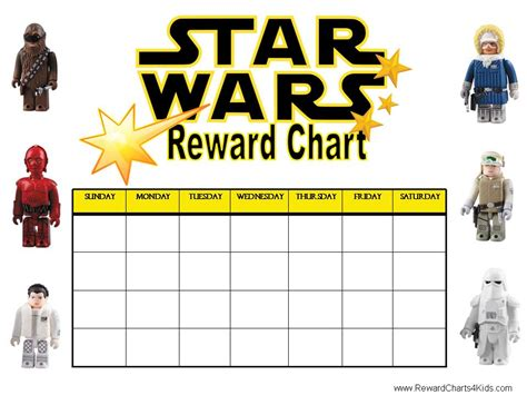 printable rewards charts printable reward charts star wars pinterest
