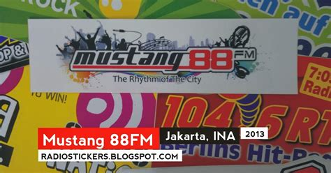radio mustang jakarta radio station stickers and more mustang 88fm jakarta