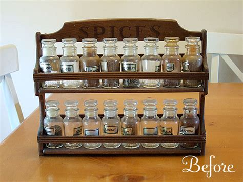 Wooden Kitchen Canisters old spice rack bead storage crafty nest
