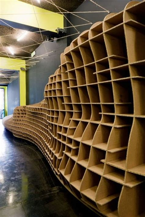 Recycled Materials Interior Design by Lisbon Store Interior Built From Cardboard Treehugger