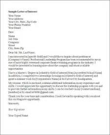 Letter Of Interest Template by Letter Of Interest Template E Commercewordpress