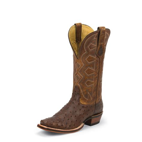 ostrich boots nocona soft pullup quill ostrich cowboy boots