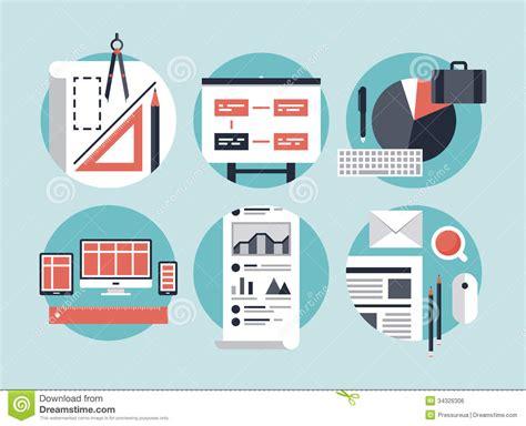vector plan blue print flat design stock vector modern business development process royalty free stock