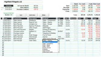accounting spreadsheet easy for accounts with standard
