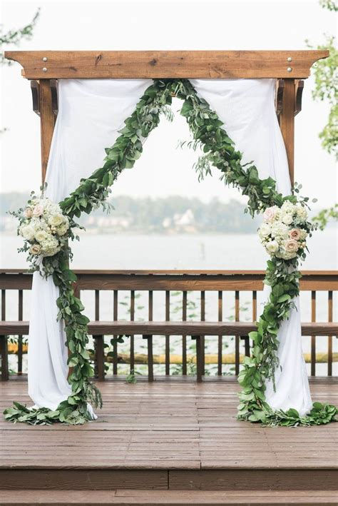Wedding Ceremony Arch by Ceremony Arch With Flowers And Fabric Venue Historic