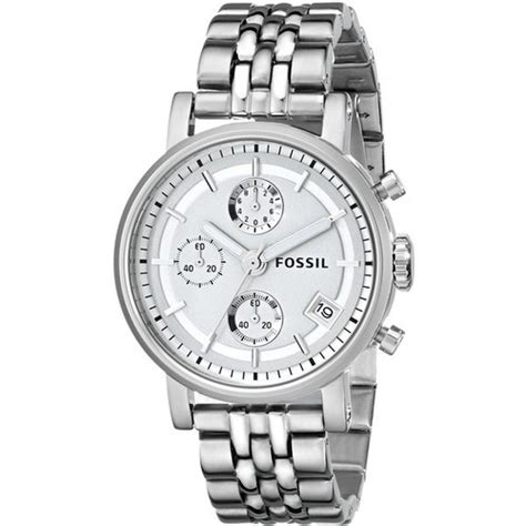 Fossil Silver Combi fossil s es2198 silver tone stainless steel with link bracelet visual bookmark 15101