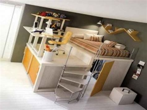 bunk beds with futon underneath full loft bed with desk underneath whitevan