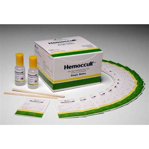 Hemocult Stool Specimen by Hemoccult Single Slides Rapid Diagnostic Test Kit 60151a