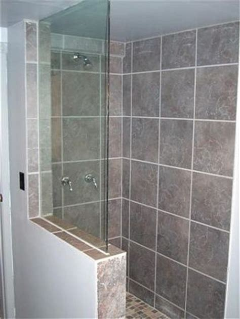 Shower Enclosures With Half Wall Half Wall Frameless Shower Screen Bathroom