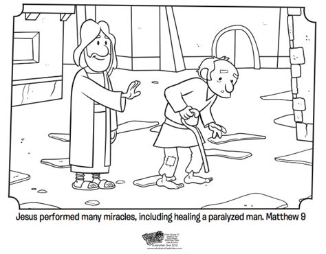 Jesus Heals The Lame Coloring Page jesus heals bible coloring pages what s in the bible
