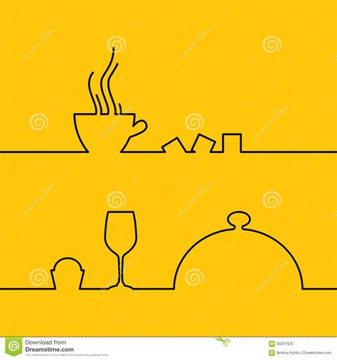 food and drink line design stock vector image 59287820