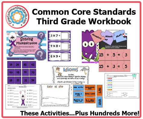 Common Second Grade Worksheets by Teaching Common Workbooks